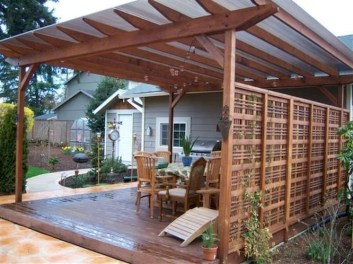 Awesome Backyard Patio Deck Design and Decor Ideas 12