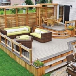 Awesome Backyard Patio Deck Design and Decor Ideas 24