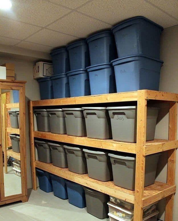 Best DIY Garage Storage with Rack 08