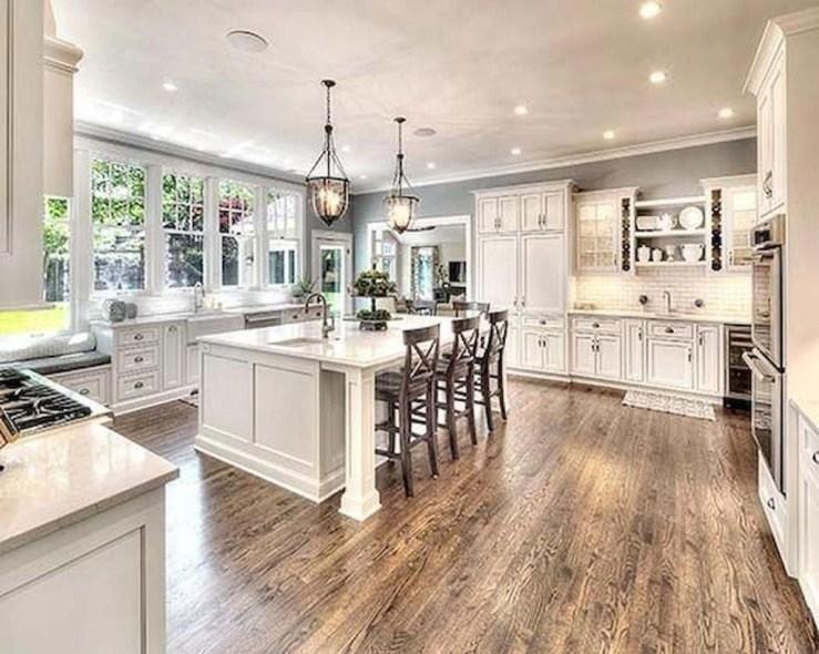 Classy Kitchen Floor Ideas with Hardwood 62