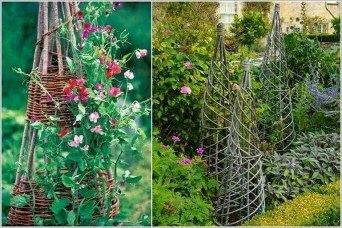 Cool DIY Garden Trellis Ideas 37