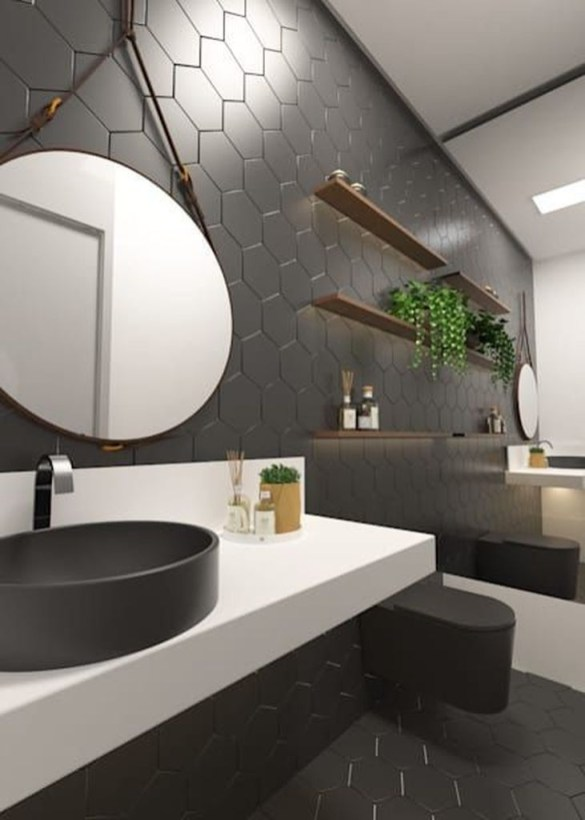 Cool Minimalist Bathroom to Add to Your Dream Home Decor 09