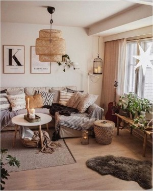 Cozy Scandinavian Living Room Designs Ideas 15