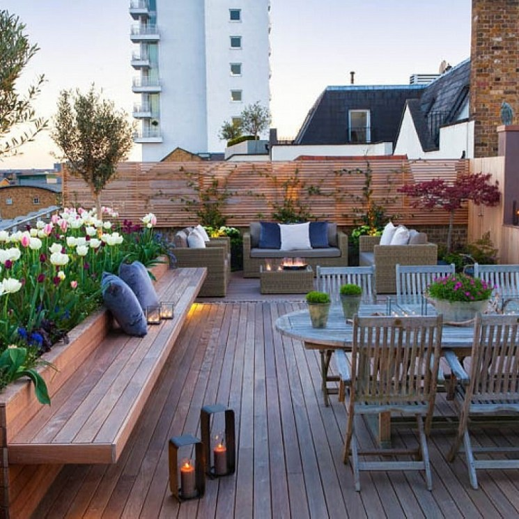 Inspiring Garden Terrace Design Ideas with Awesome Design 17
