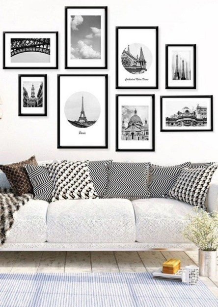 Inspiring Wall Decor Ideas for Your Living Room 54