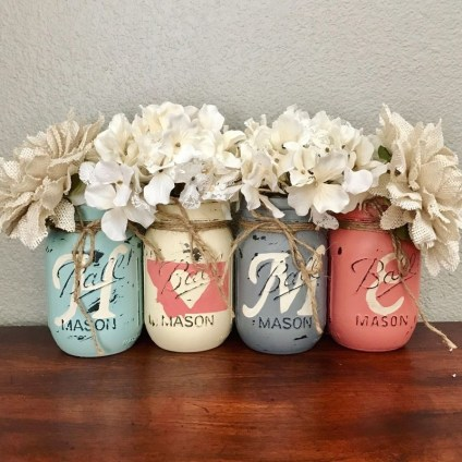 Outstanding DIY Crafts Project Ideas with Mason Jars 54