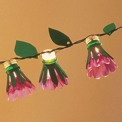 Recycled and Reuse Empty Plastic Bottles Into a String of Lights Ideas 04