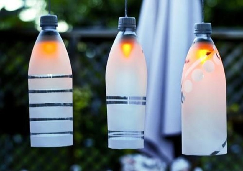 Recycled and Reuse Empty Plastic Bottles Into a String of Lights Ideas 05