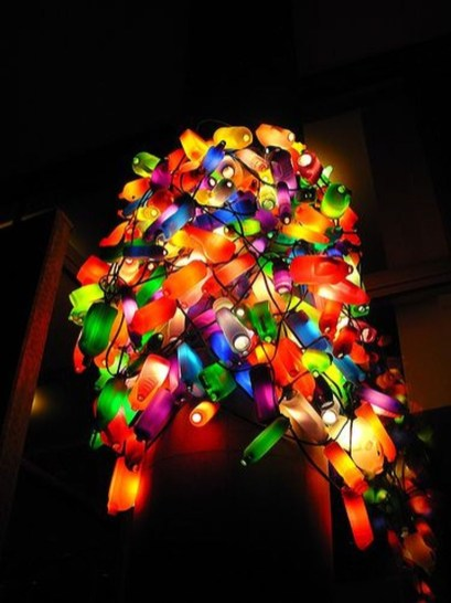 Recycled and Reuse Empty Plastic Bottles Into a String of Lights Ideas 11