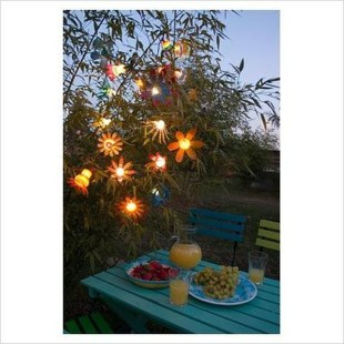 Recycled and Reuse Empty Plastic Bottles Into a String of Lights Ideas 12