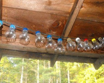 Recycled and Reuse Empty Plastic Bottles Into a String of Lights Ideas 15