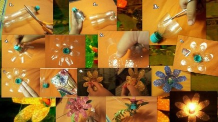 Recycled and Reuse Empty Plastic Bottles Into a String of Lights Ideas 24