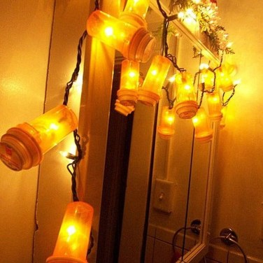 Recycled and Reuse Empty Plastic Bottles Into a String of Lights Ideas 31