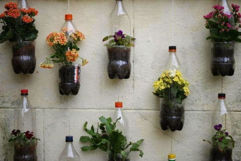 Ways to Reuse and Recycle Empty Plastic Bottles in Your Home Decoration 48