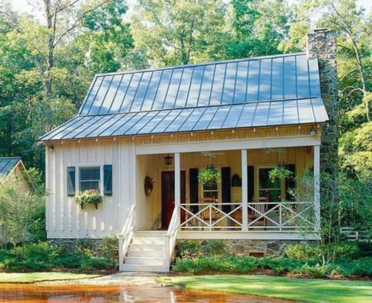 Comfortable Small Cottage House Plan Ideas 14