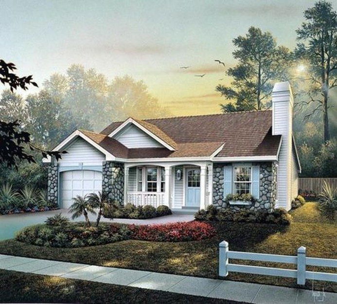 Comfortable Small Cottage House Plan Ideas 24