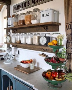 Cool Farmhouse Kitchen Decor Ideas On a Budget 37