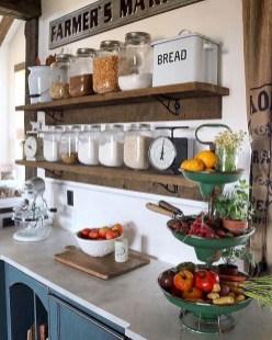 Cool Farmhouse Kitchen Decor Ideas On a Budget 37
