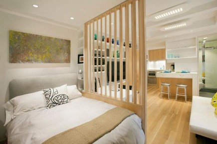 Cozy Room Divider for Small Apartments 28