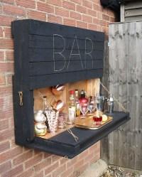 DIY Bright Outdoor Bar Using Pallet 03
