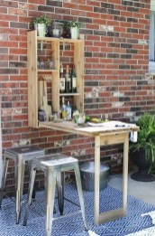 DIY Bright Outdoor Bar Using Pallet 15