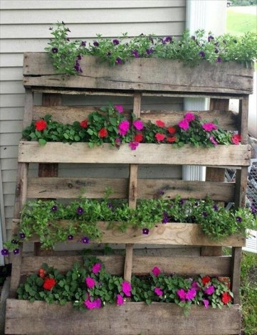 Inexpensive DIY Planter with Pallet 50