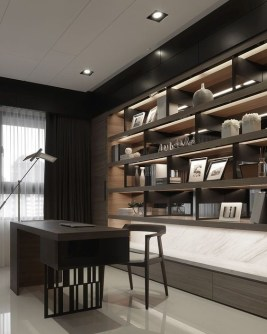 47 Interior Design 2019 for Decorating Your Comfortable Home Office 42