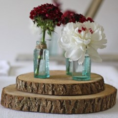 Beautiful Decorations for Your Wedding Decoration with Wooden Slices33