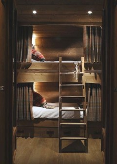Bunk Beds with Wooden Wall Design 02