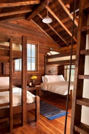 Bunk Beds with Wooden Wall Design 04