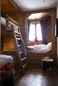 Bunk Beds with Wooden Wall Design 07