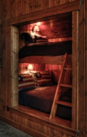 Bunk Beds with Wooden Wall Design 08