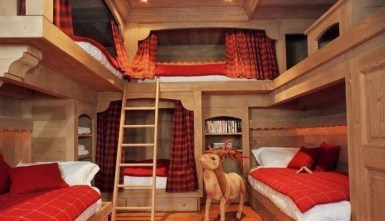 Bunk Beds with Wooden Wall Design 19