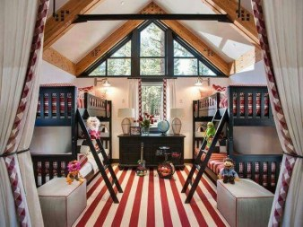 Bunk Beds with Wooden Wall Design 24