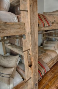 Bunk Beds with Wooden Wall Design 30