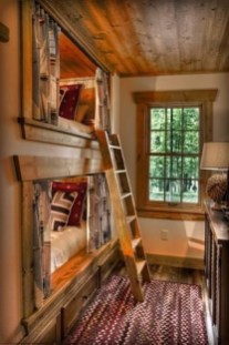 Bunk Beds with Wooden Wall Design 31