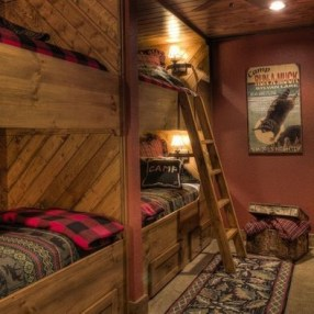Bunk Beds with Wooden Wall Design 37