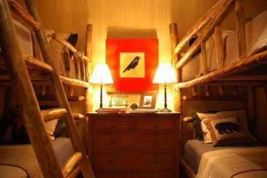Bunk Beds with Wooden Wall Design 40