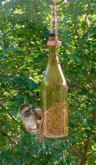 Charming Backyard Ideas Using an Empty Glass Bottle02