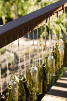 Charming Backyard Ideas Using an Empty Glass Bottle03