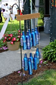 Charming Backyard Ideas Using an Empty Glass Bottle14