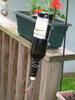 Charming Backyard Ideas Using an Empty Glass Bottle41