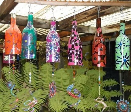 Charming Backyard Ideas Using an Empty Glass Bottle45