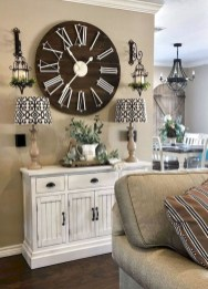 Gorgeous Wall Clock Decoration for Your Small Living Room04