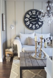 Gorgeous Wall Clock Decoration for Your Small Living Room13