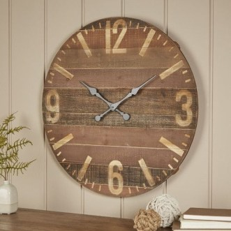 Gorgeous Wall Clock Decoration for Your Small Living Room23