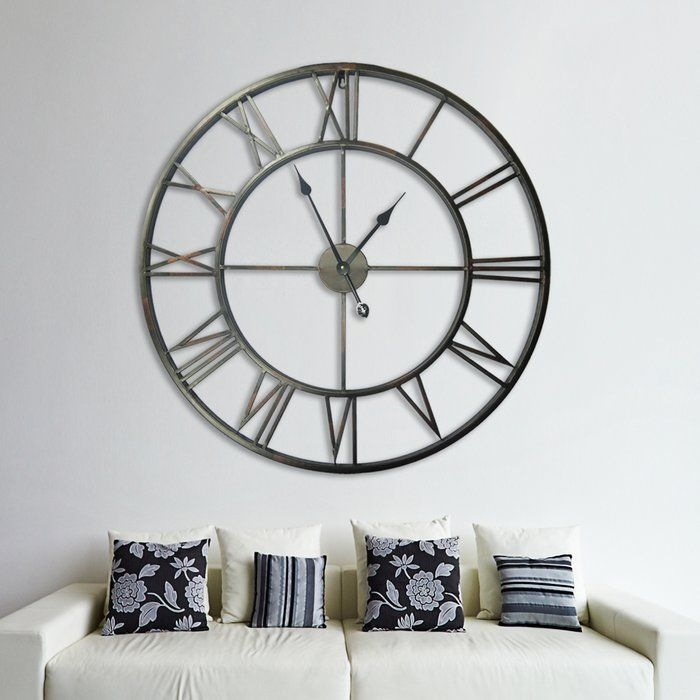 Gorgeous Wall Clock Decoration for Your Small Living Room29