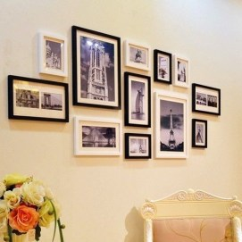 Simple And Memorable Photo Frame Decoration on Your Bedroom Wall 03