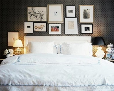 Simple And Memorable Photo Frame Decoration on Your Bedroom Wall 09