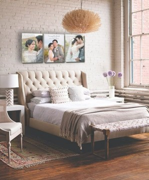 Simple And Memorable Photo Frame Decoration on Your Bedroom Wall 34